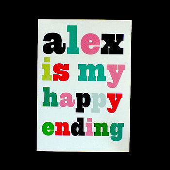 Personalised '… Is My Happy Ending' Print