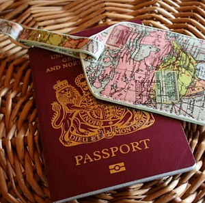 World Map Luggage Tag - travel & luggage