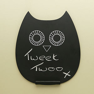 Owl Chalk Board - storage & organisers