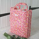 Pink Retro Oilcloth Shopper
