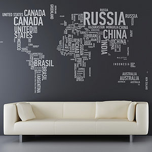 A Different World Wall Sticker - gifts for men