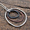 Handmade Organic Copper And Silver Pendant
