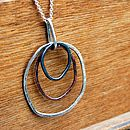 Organic Silver And Copper Necklace Handmade in Orkney