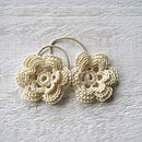 Hand Crocheted Flower Hair Ties