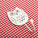 Vintage style single owl hook