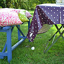 Spotty Oilcloth Tablecloth