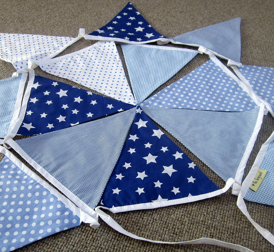 Blue Bunting Can Be Personalised