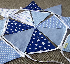 Blue Bunting Can Be Personalised - children's room accessories
