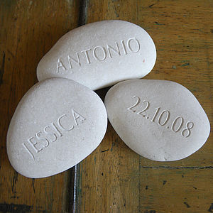 Wedding Gift Pebbles - message tokens
