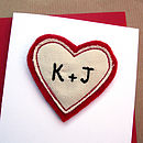 Initials Personalised Anniversary Card