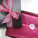 Cerise Organza Ribbon Gift Box