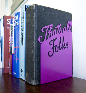 'That's All Folks' Book End - bookends