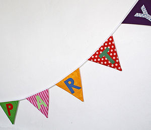 Personalised Party Bunting - occasional supplies