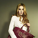 Lily Leather Tote Bag