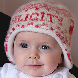 Personalised Knitted Goose Hat - new baby gifts