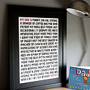 Personalised 'My Dad Is...' Framed Print