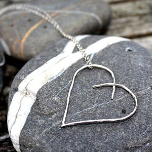 Handmade Silver Heart Pendant - necklaces & pendants