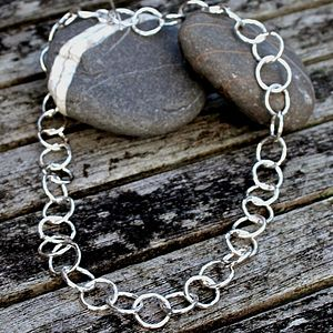 Handmade Chunky Silver Chain Necklace - necklaces & pendants