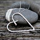 Handmade Chunky Silver Heart Pendant
