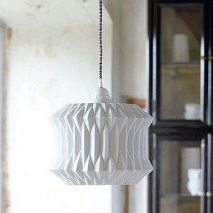 Fold Ceramic Lampshade - dining room