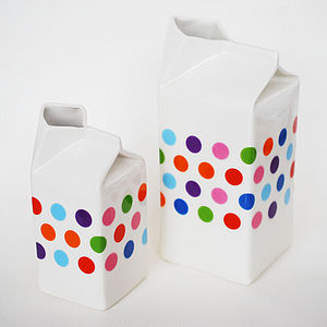 XL Polkadot Porcelain Milk Jug - kitchen