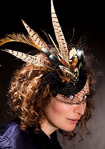 Pheasant Feather Fascinator - hats, scarves & gloves