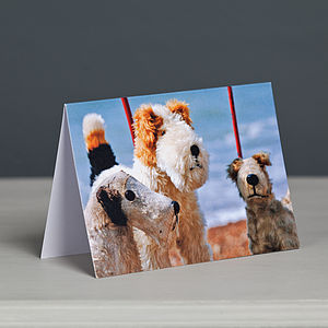 Vintage Dog Toys Greetings Card - children's birthday cards