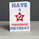 'Have A Terrierific Birthday' Card
