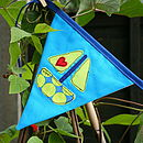 blue green heart boat bunting