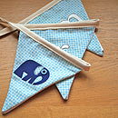 Boy's Personalised Elephant Bunting
