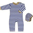 Nautical Organic New Baby Romper And Hat