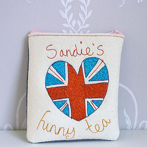 Personalised British Heart Flag Purse