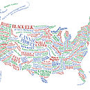 USA Literary Map Print