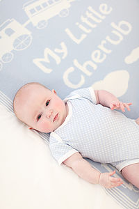 'My Little Cherub' Cashmere Baby Blanket - blankets, comforters & throws
