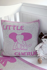 'Little Cherub' Cashmere Baby Cushion - baby & child