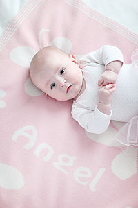 'Angel' Cashmere Flower Baby Blanket - blankets, comforters & throws