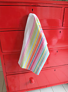 Candy Striped Hand / Tea Towel