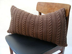 Handknit Cable Cushion - cushions
