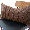 Handknit Cable Cushion