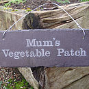 Mum's Vegetable Patch Engraved Sign