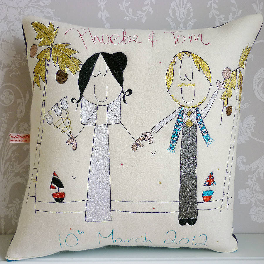 homepage > SEABRIGHT DESIGNS > PERSONALISED WEDDING GIFT CUSHION