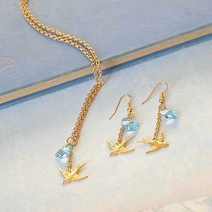 Swallow And Swarovski Heart Jewellery Set - jewellery sets