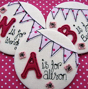 Personalised Initial Bunting Mirror - beauty accessories