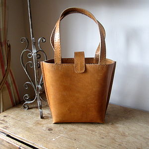 Leather Bucket Bag - womens