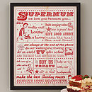'Supermum' Print Personalised