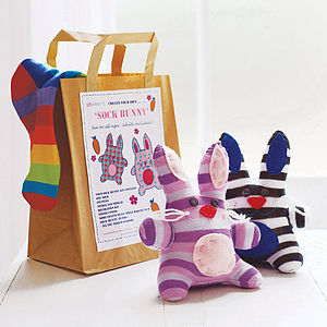 Sock Bunny Craft Kit - easter gifts