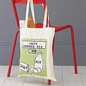 Personalised Printed Shopper Bag - 2nd anniversary: cotton