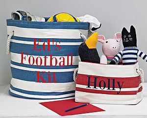 Personalised Canvas Storage Tub - storage bags