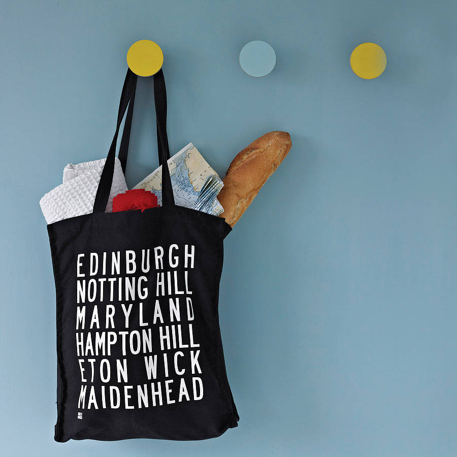 personalised destinations canvas shopper bag by more than words ...