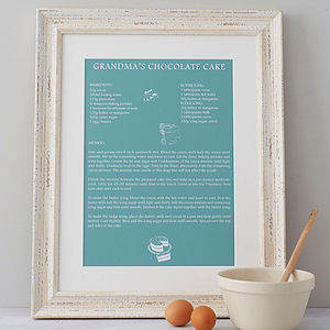 Personalised 'Signature Dish' Print